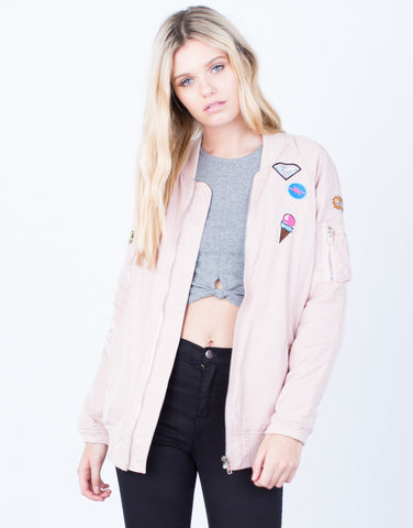 Front View of Don't Make Me Blush Bomber