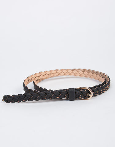 Double Braided Thin Belt