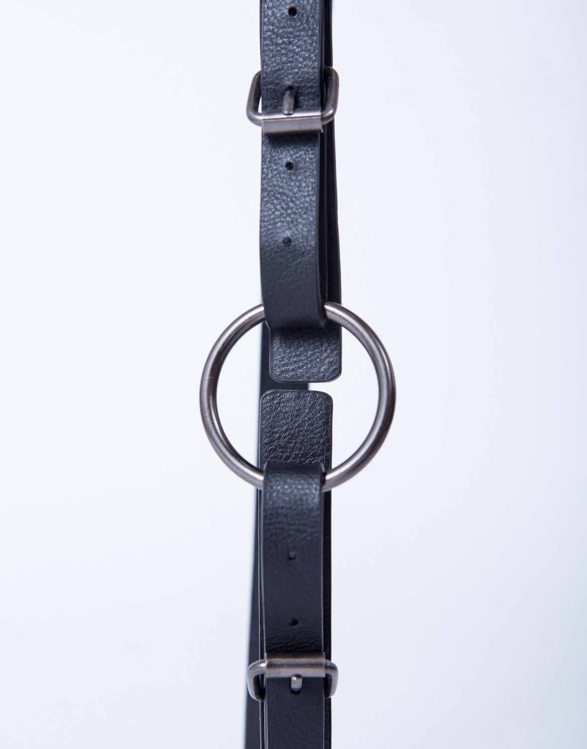 Double Buckled Thin Leather Belt - 2020AVE