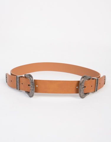 Double Buckled Western Belt