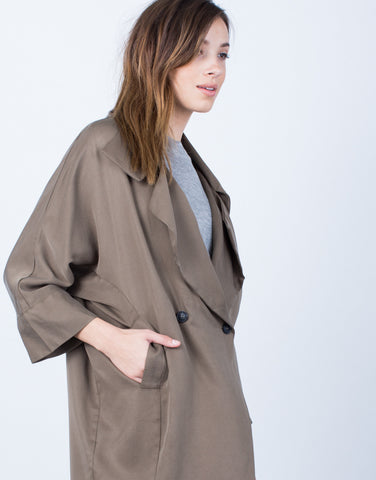 Detail of Double Buttoned Trench Jacket