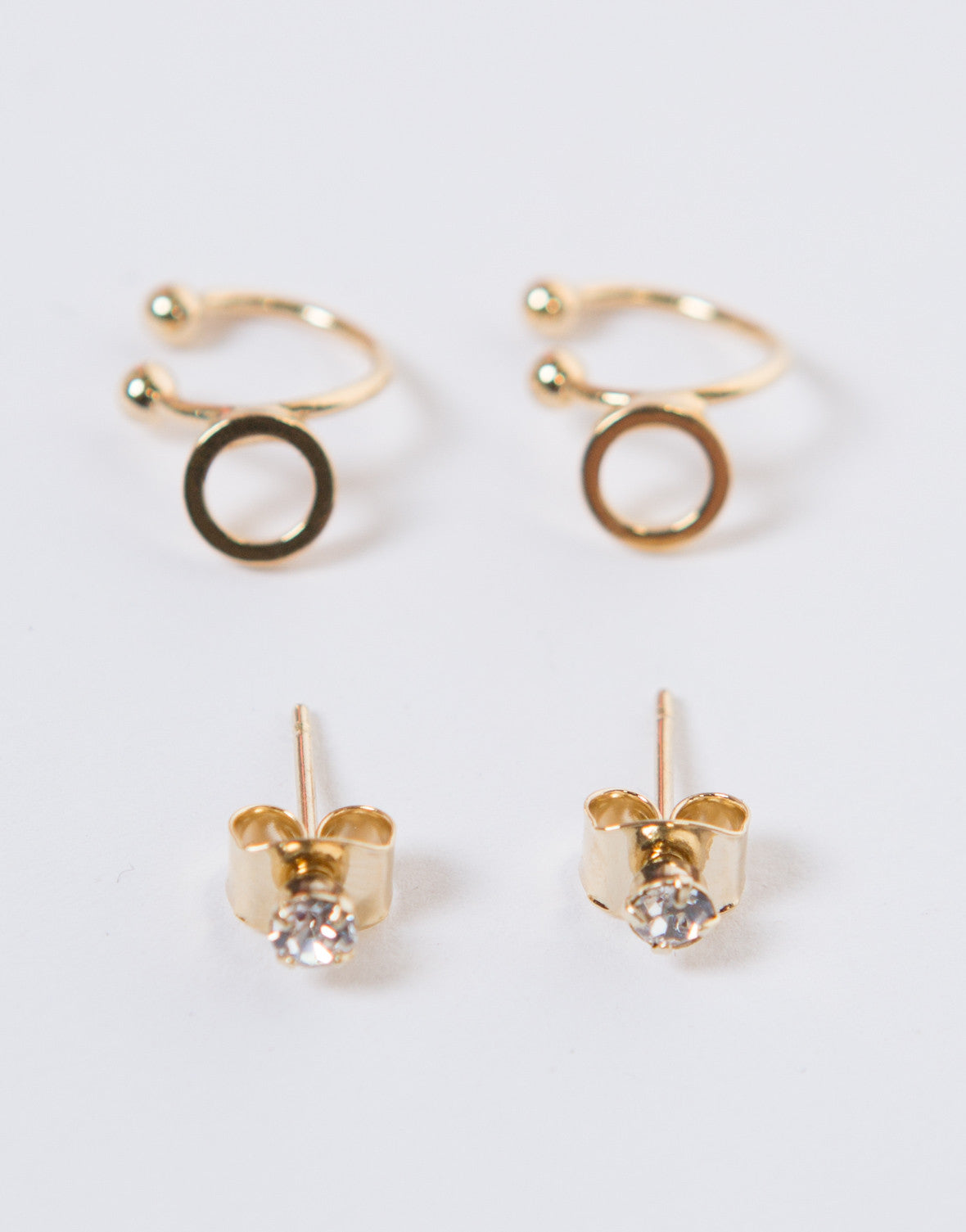 Double Circle Ear Cuff Set