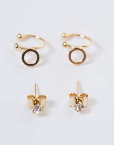 Double Circle Ear Cuff Set - 2020AVE