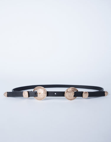 Double Concho Waist Belt