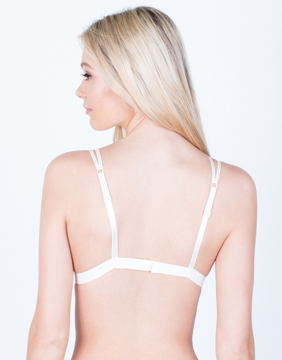 Back View of Double Strap Lace Bralatte