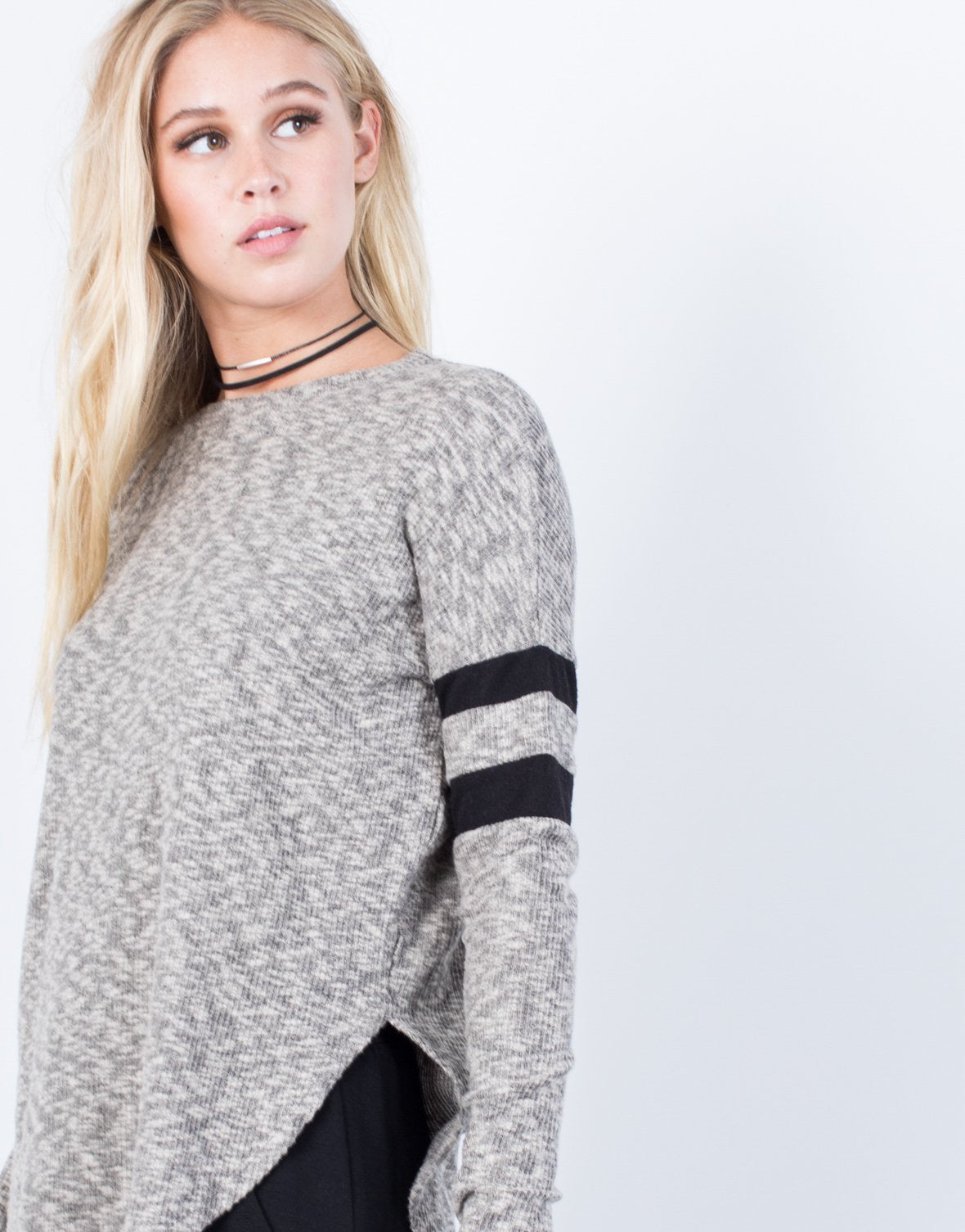 Double Striped Soft Sweater - 2020AVE