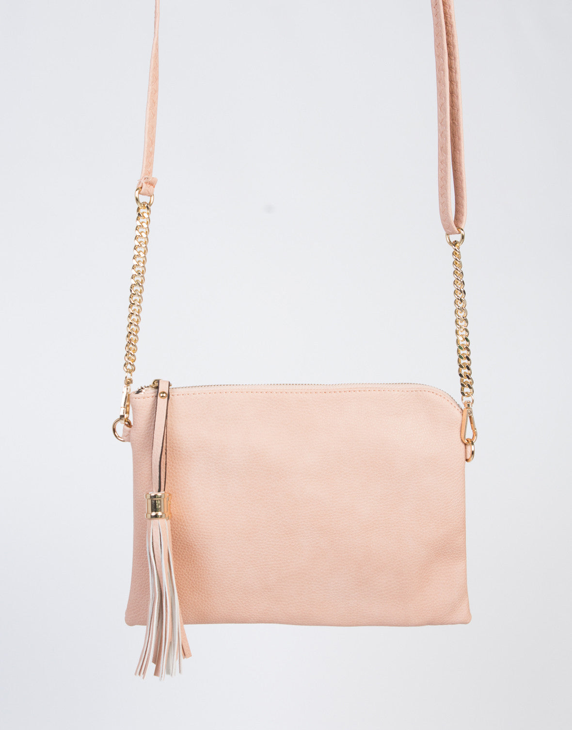 Double Tassel Crossbody Clutch