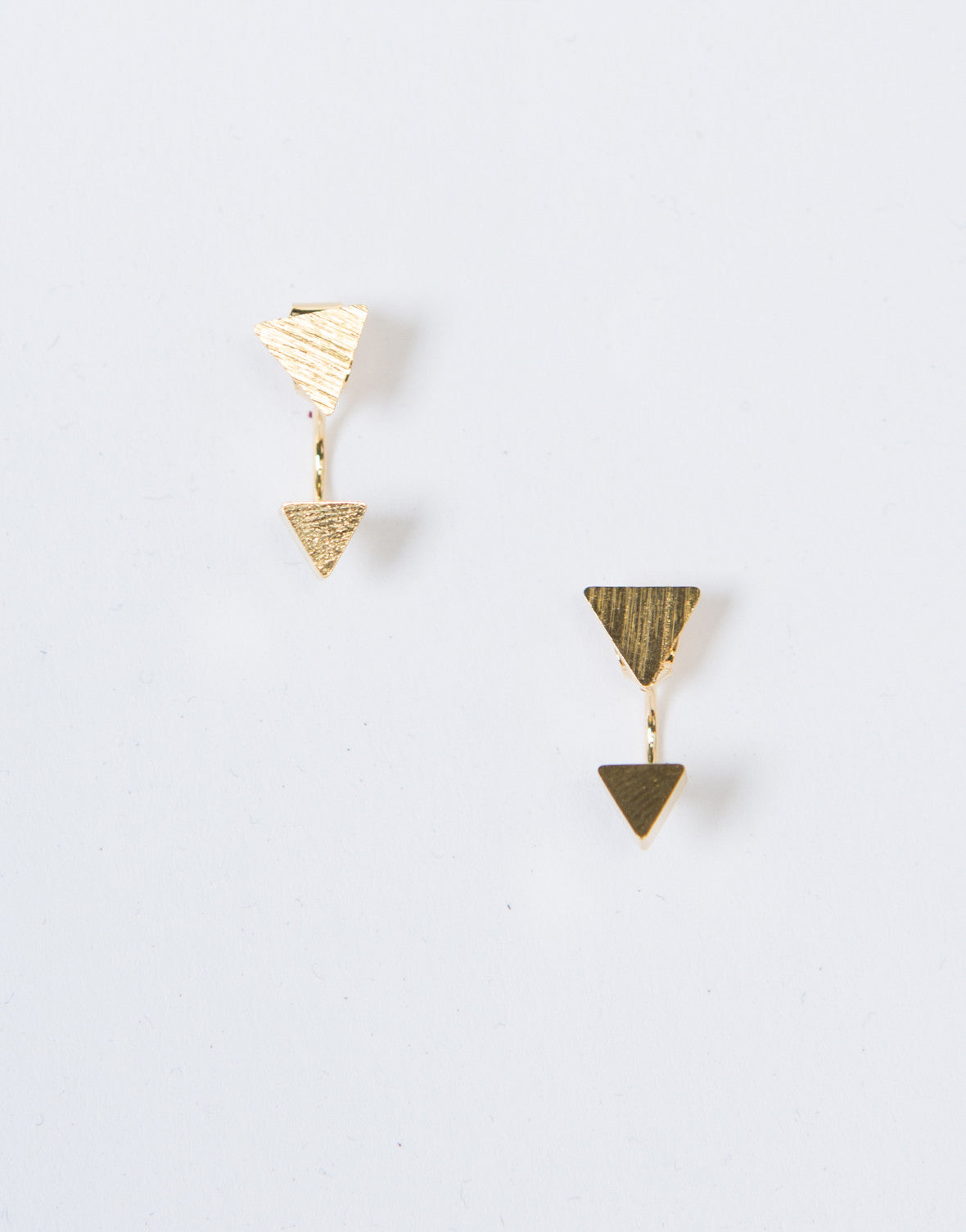 Double Triangle Curve Studs - 2020AVE