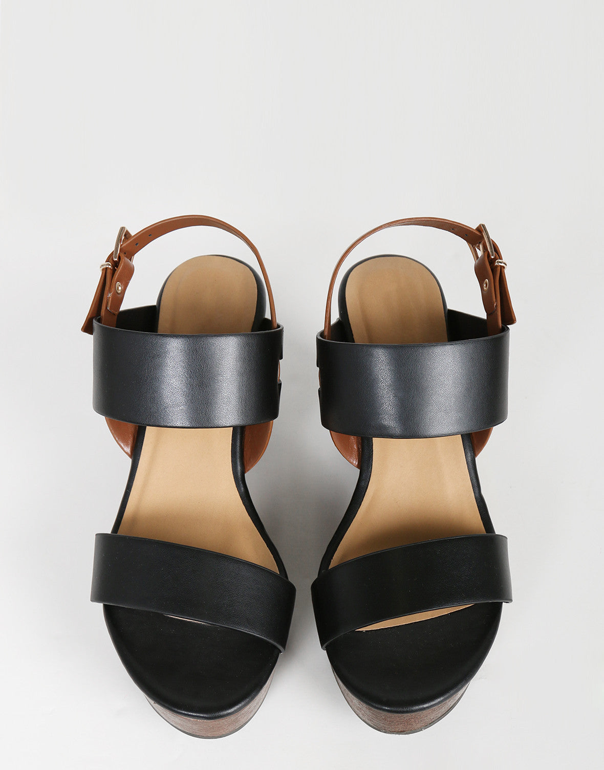 Double Banded Wedge Sandals