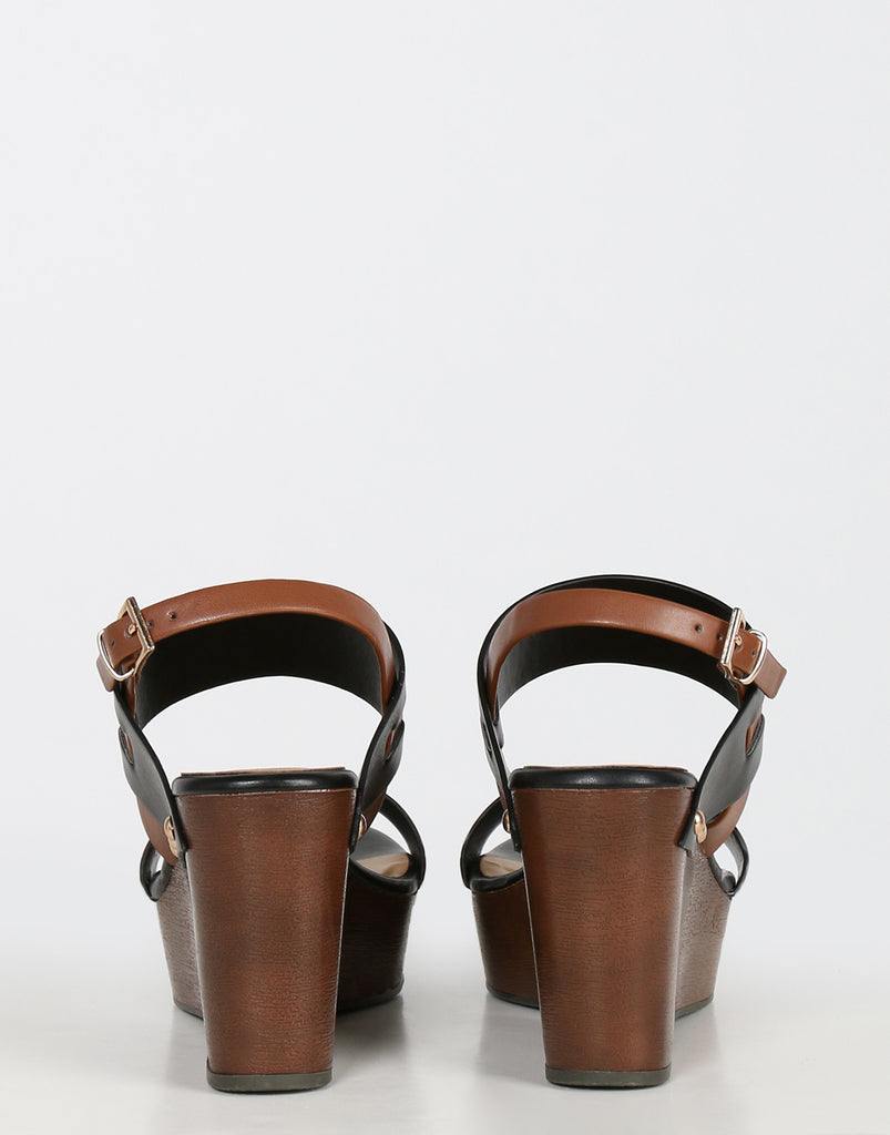 Double Banded Wedge Sandals - 2020AVE