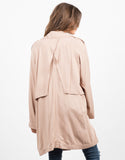 Back View of Double Breasted Trench Coat