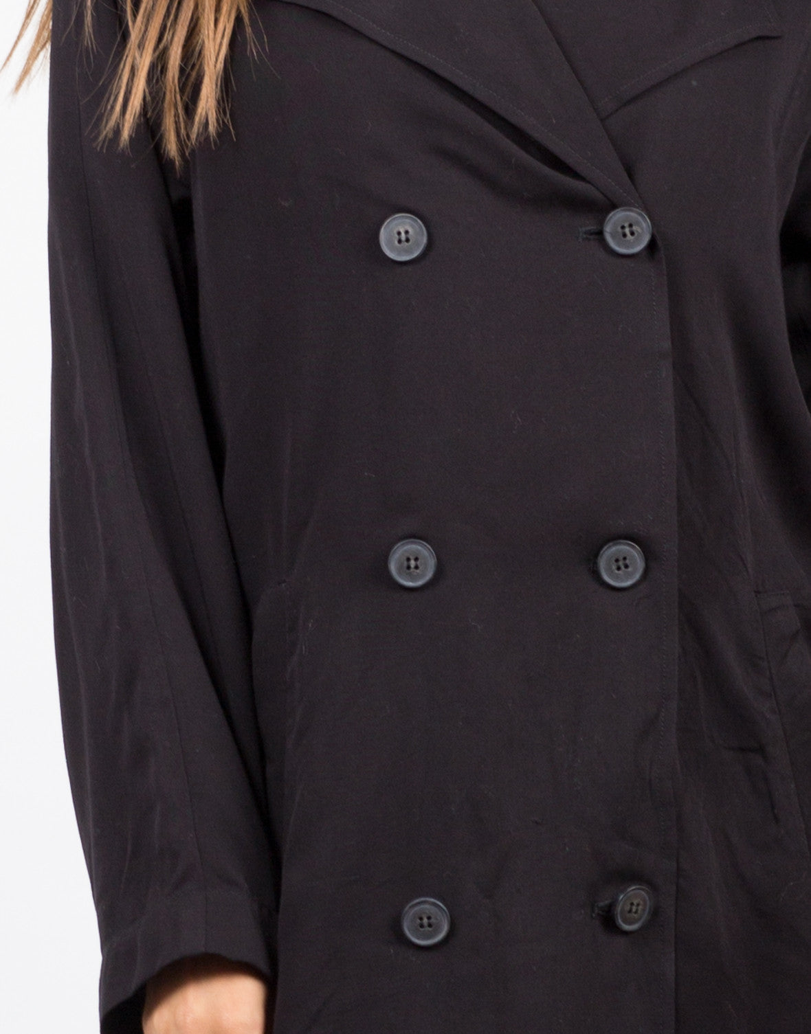Detail of Double Breasted Trench Coat