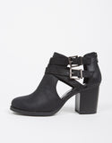 Double Buckled Ankle Booties - 2020AVE