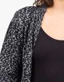 Detail of Double Pocket Mixed Knit Cardigan