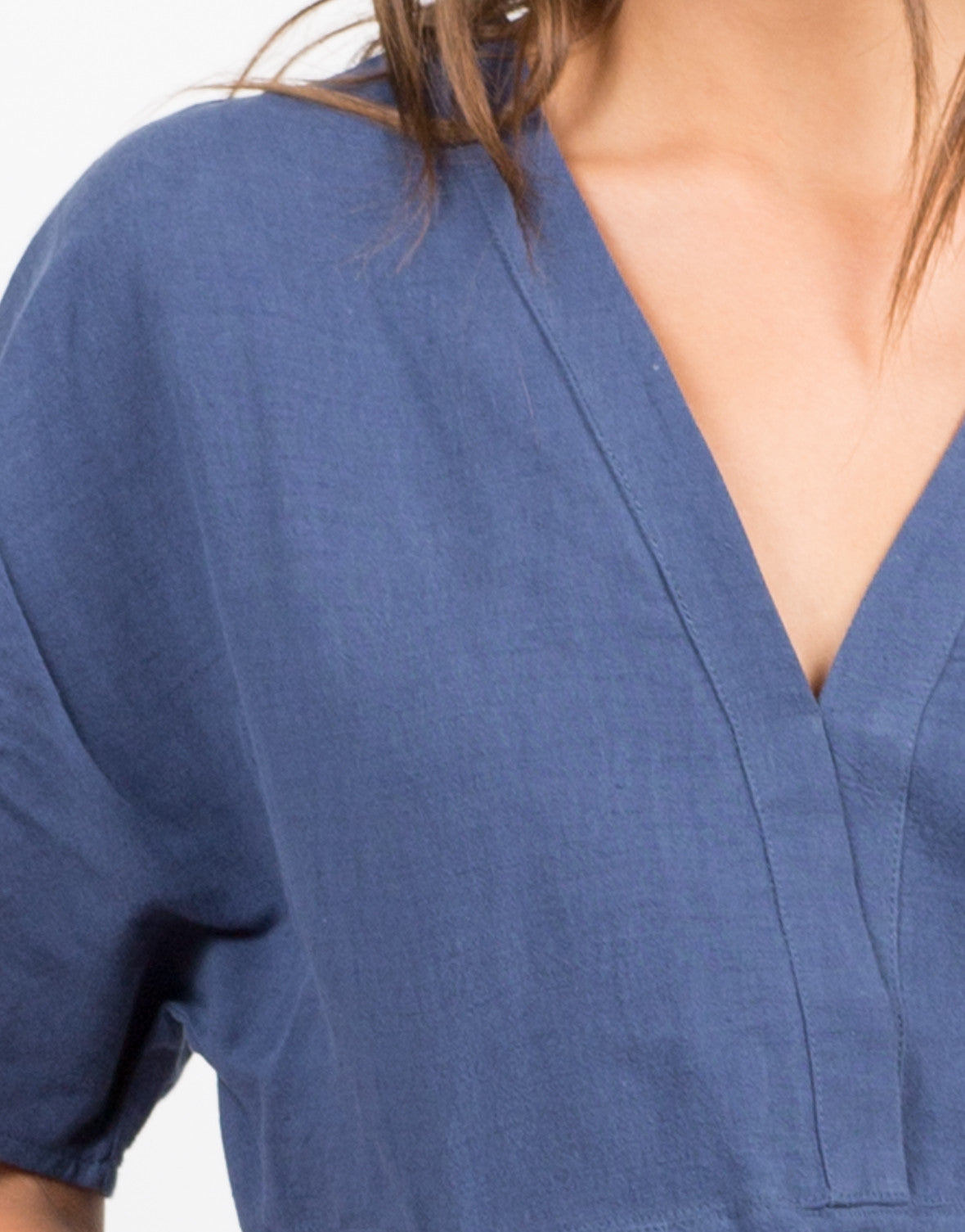 Detail of Double Pocket T-Shirt Dress