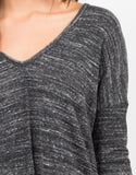 Detail of Double Slit Long Sleeve Top