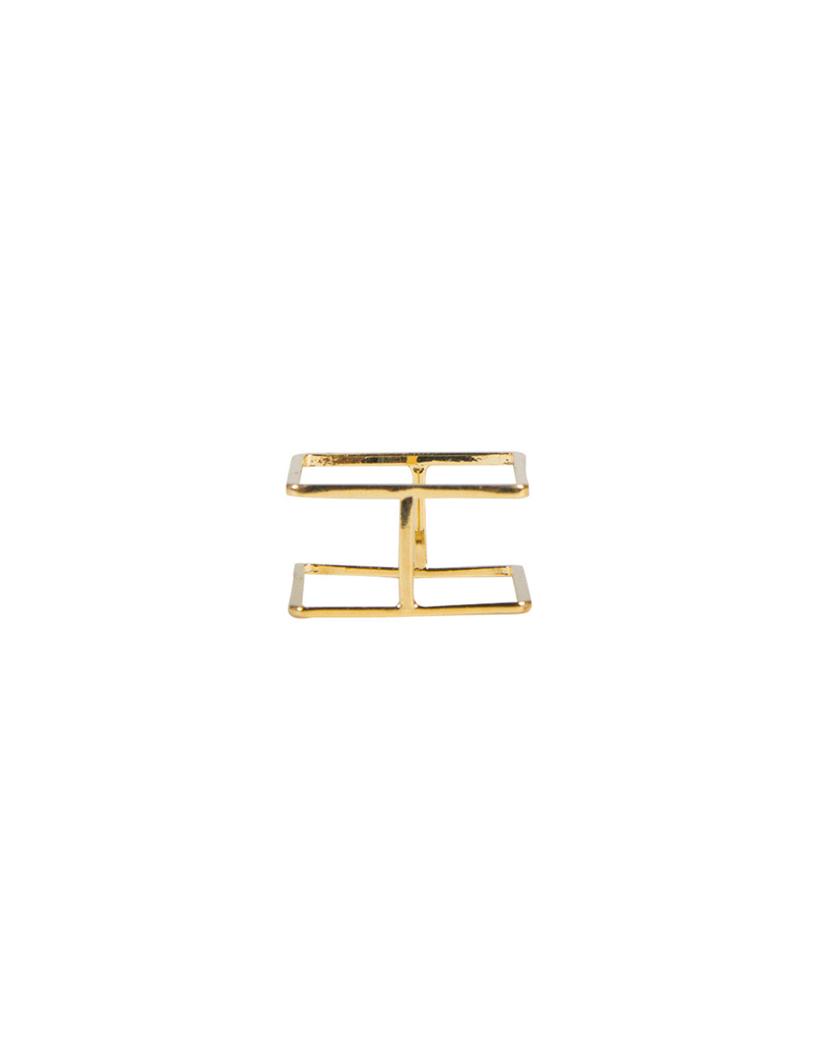 Double Square Bar Ring - Gold - Ana GR 7547-Gold