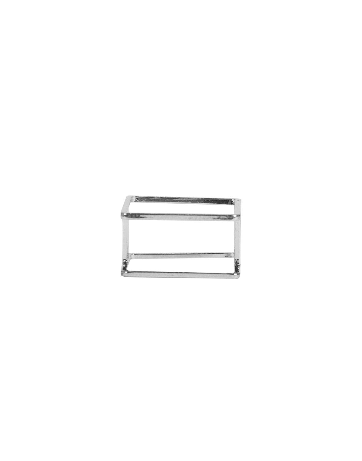 Double Square Bar Ring - Silver - Ana GR 7547-Silver