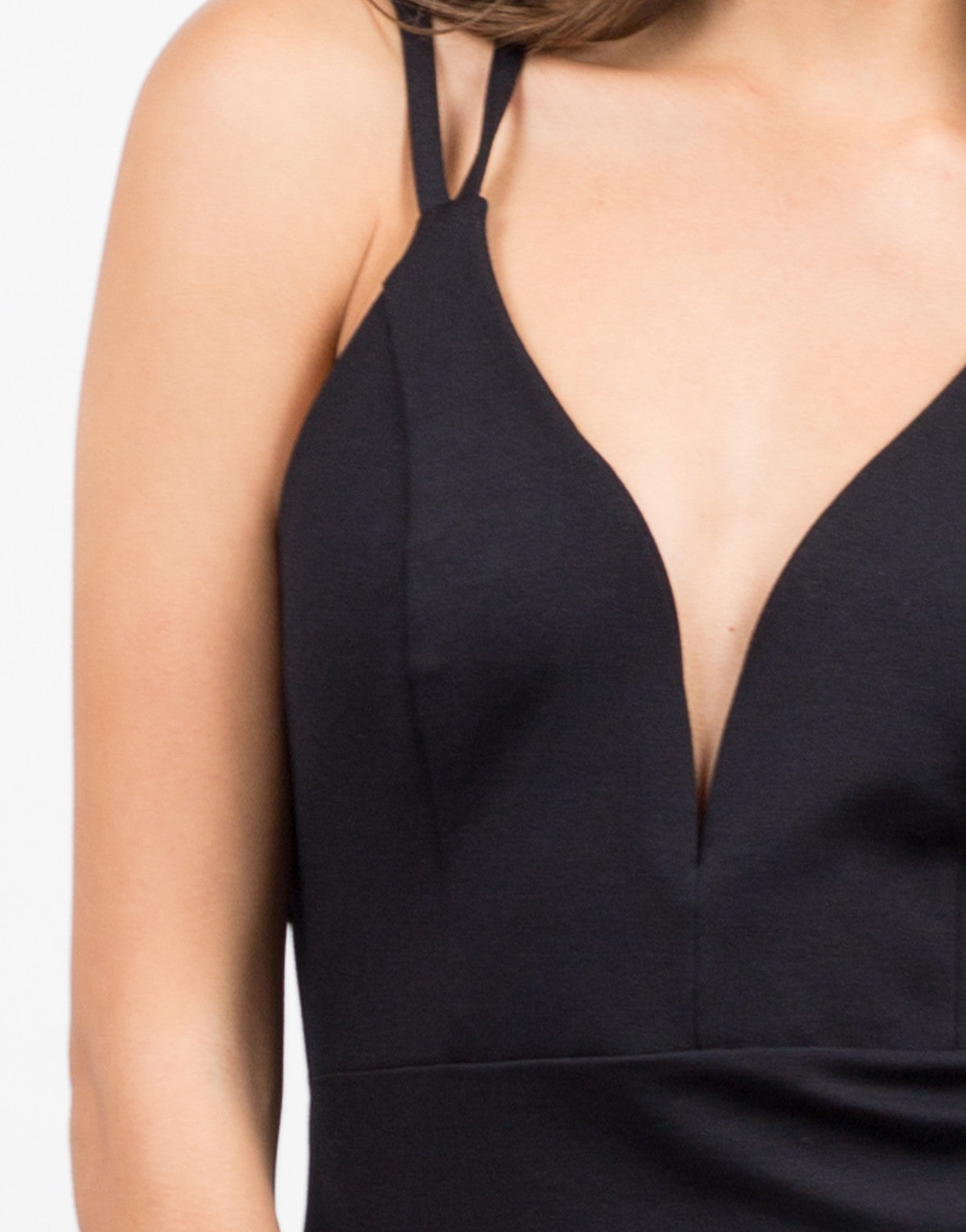 Detail of Double Strap Bodycon Dress