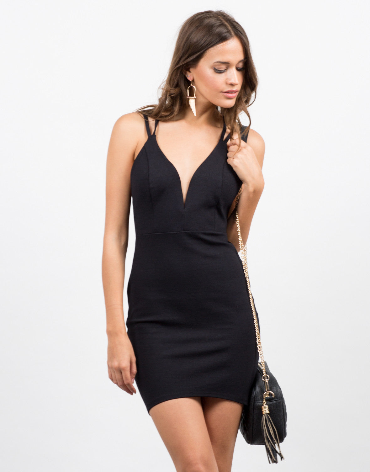 Double Strap Bodycon Dress - 2020AVE