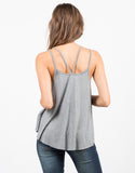 Back View of Double Strap Tank Top