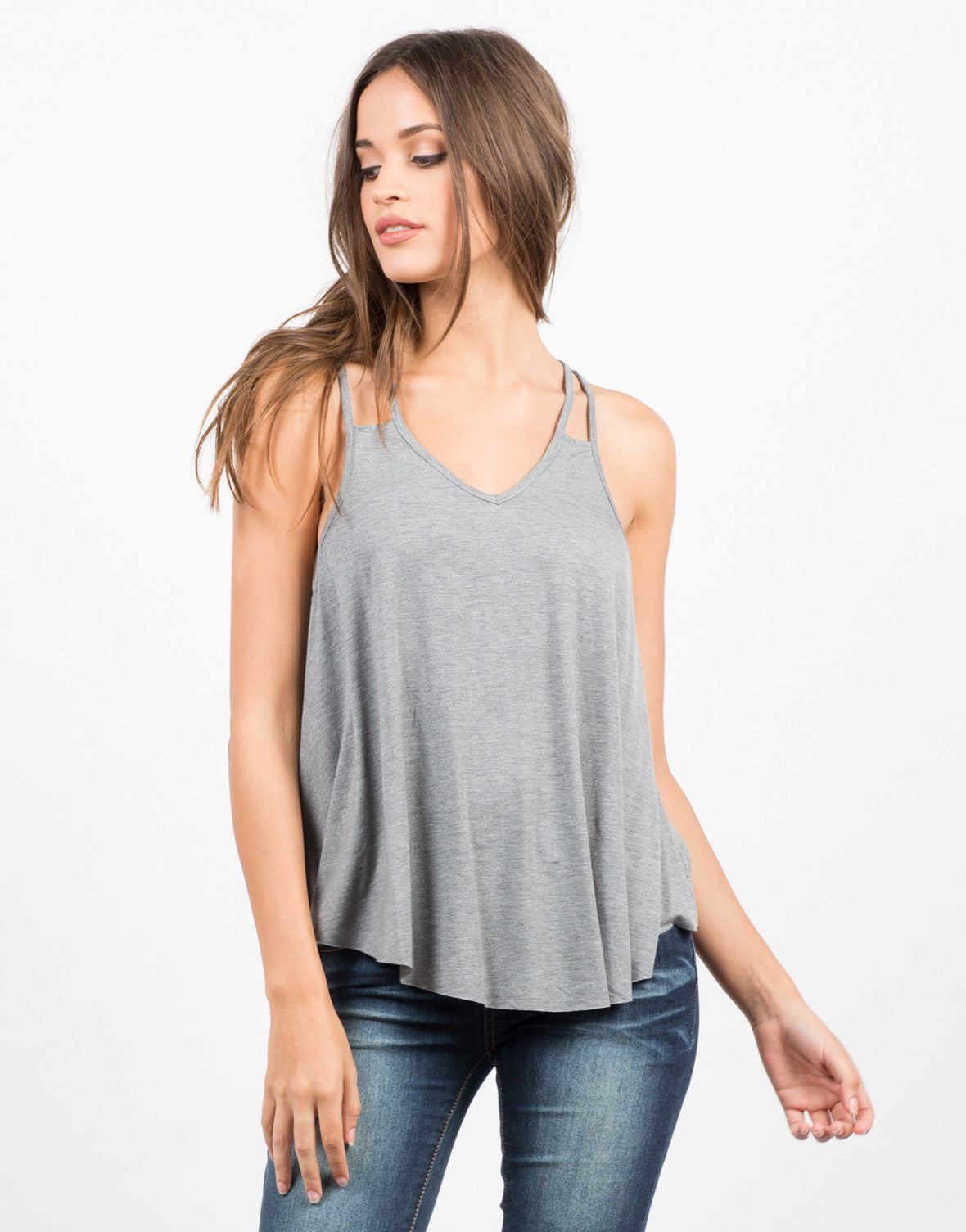 Front View of Double Strap Tank Top