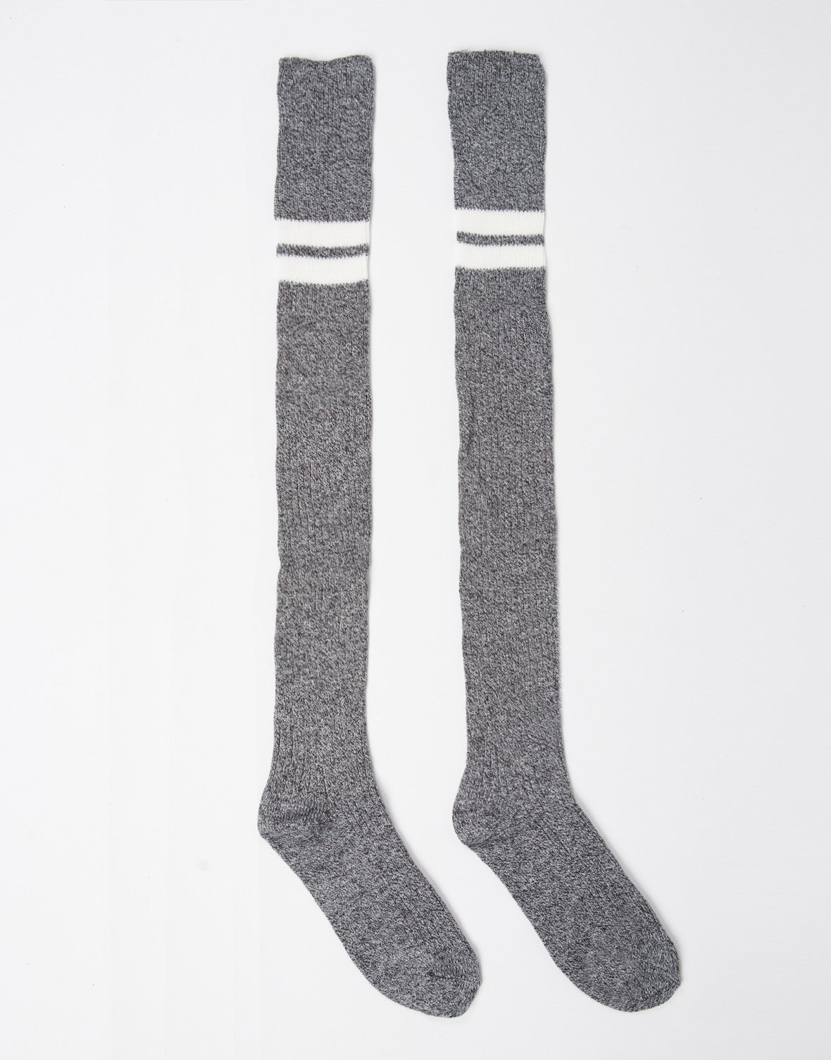 Double Striped Over-the-Knee Socks - 2020AVE