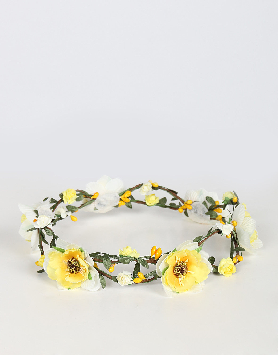 Double Wired Flower Crown - Yellow