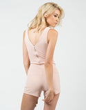 Back View of Double Zipper Romper