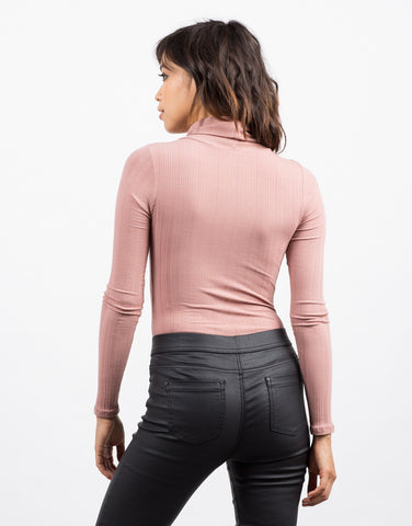 Back View of Downtown Turtleneck Bodysuit