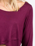 Detail of Dramatic Long Sleeve Top