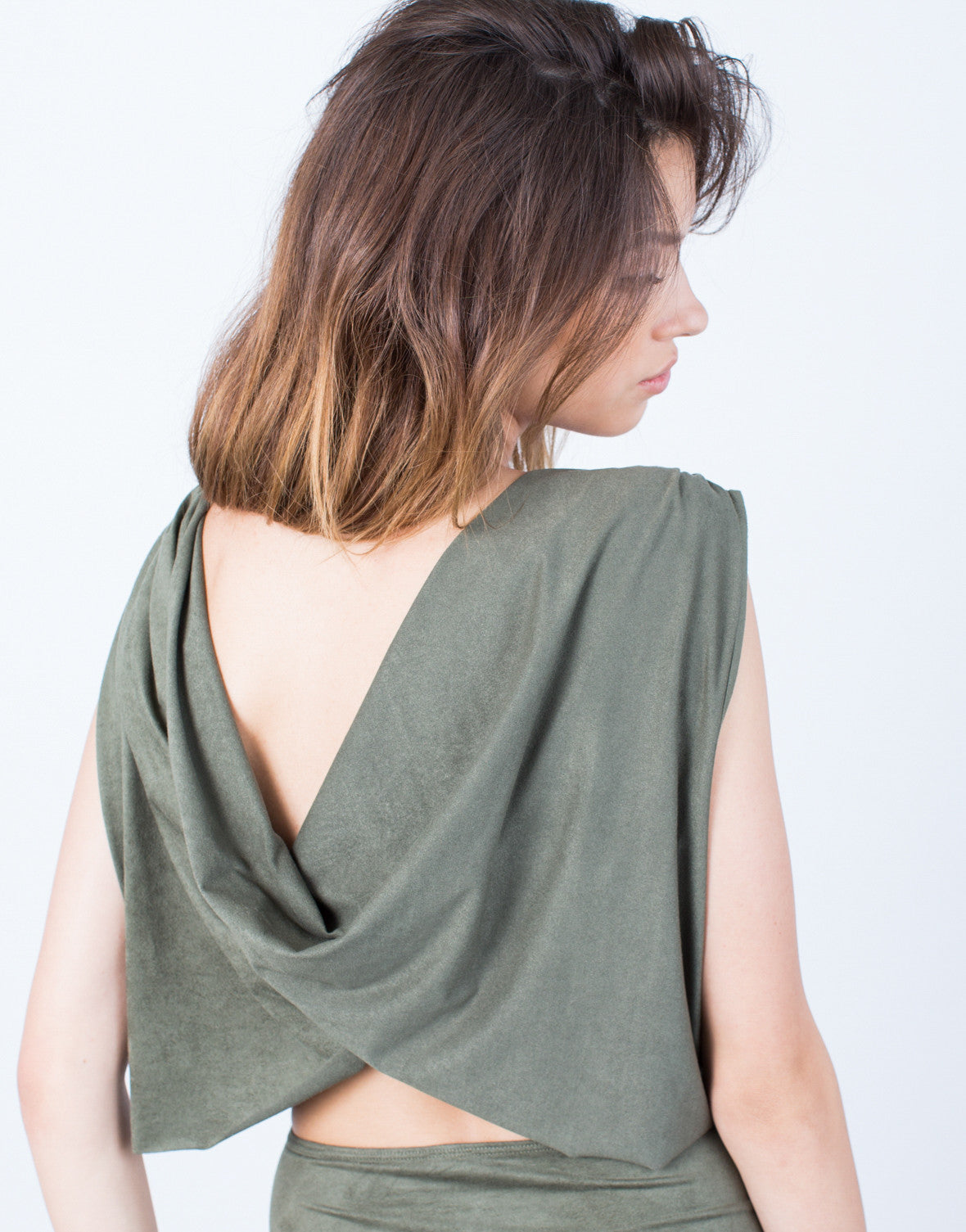 Detail of Draped Back Bodycon Dress