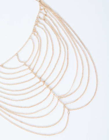 Draped Chain Choker