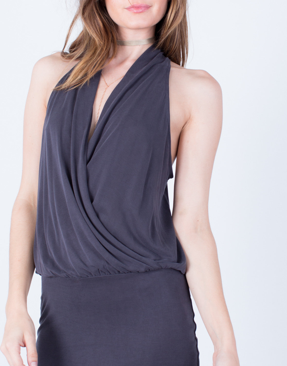 Draped Front Party Dress - 2020AVE
