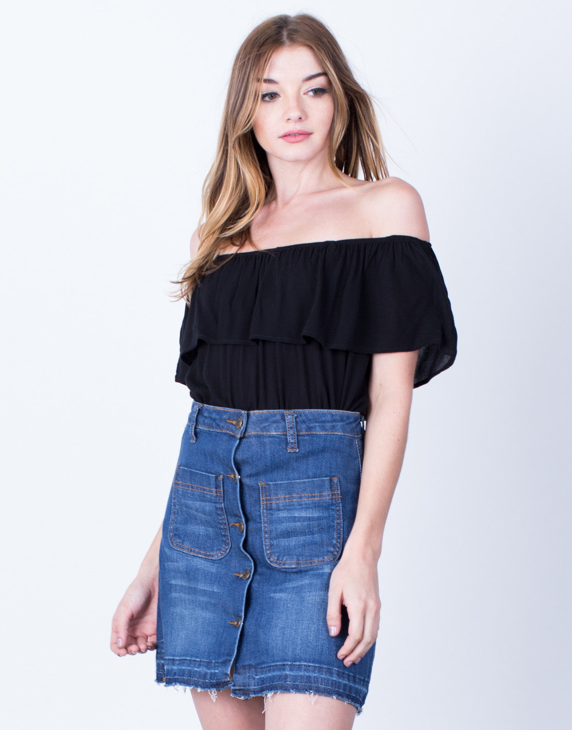 Draped Off-the-Shoulder Blouse