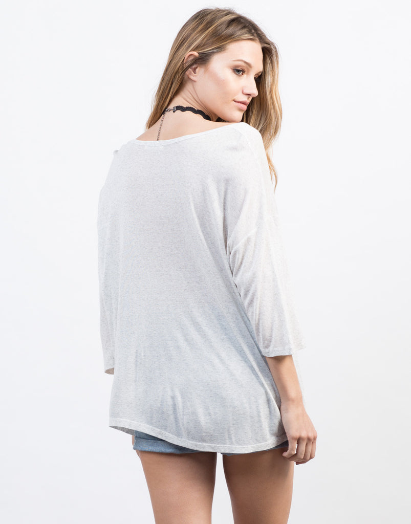 Draped Pocket 3/4 Tee - 2020AVE