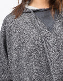 Detail of Draped Hooded Sweater