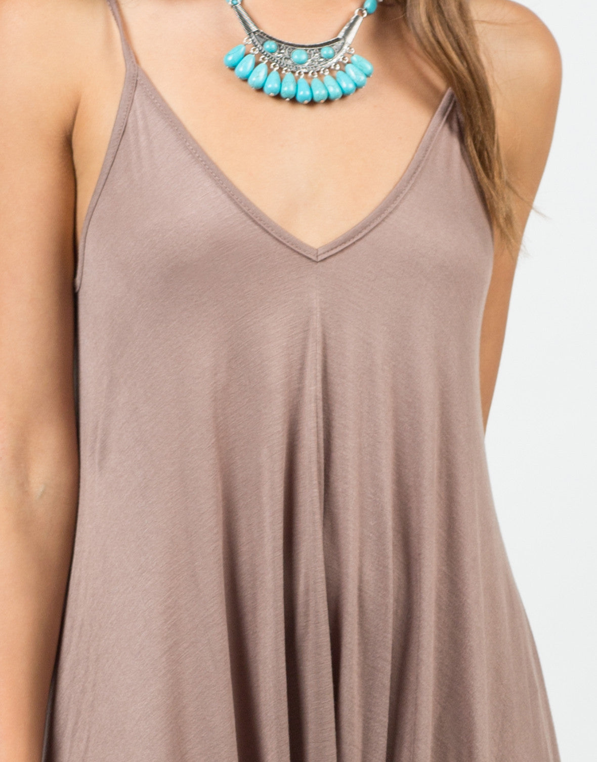 Detail of Draped Sides Romper