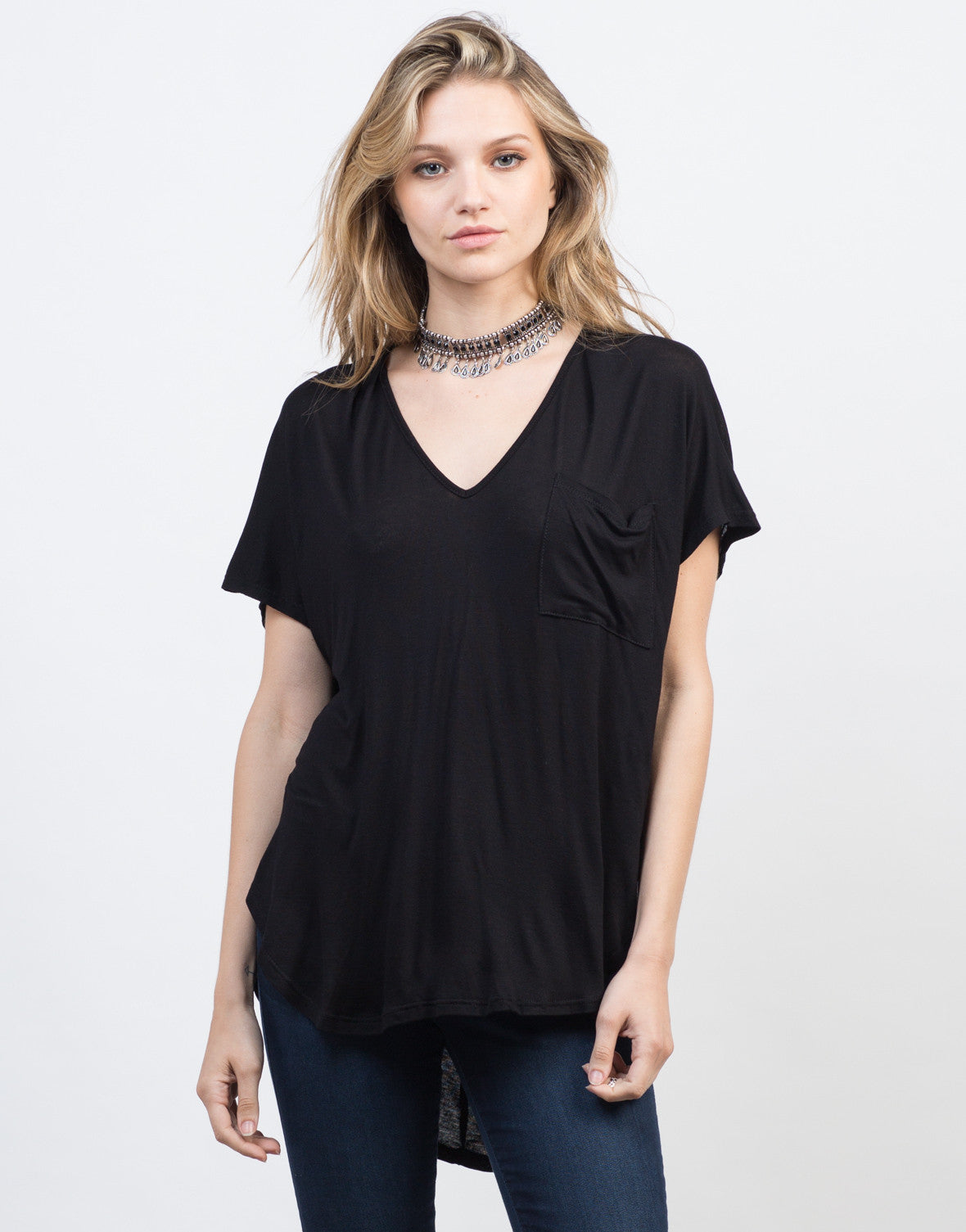 Drapey Pocket Knit Tee