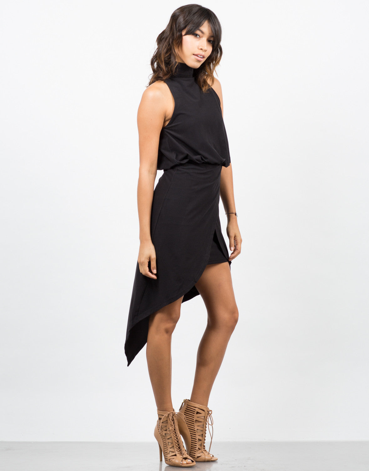 Drapey Asymmetrical Dress
