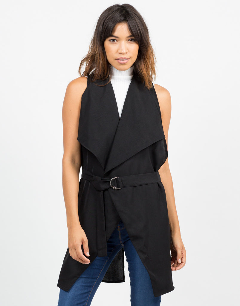 Drapey Belted Vest - 2020AVE