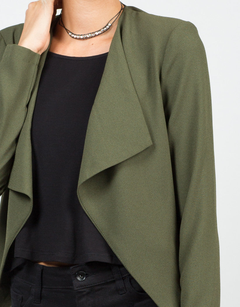 Detail of Drapey Blazer Jacket