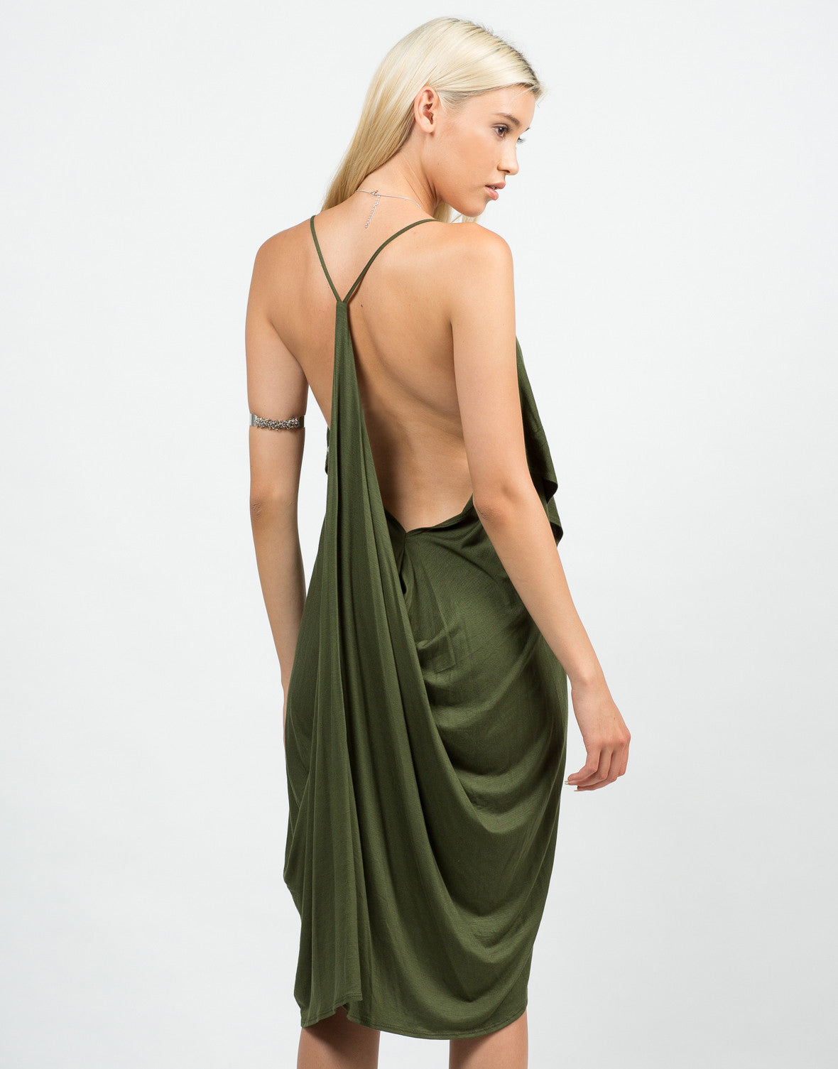 Back View of Drapey Cami Dress