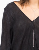 Detail of Drapey Front Blouse