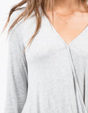 Detail of Draped Jersey Top