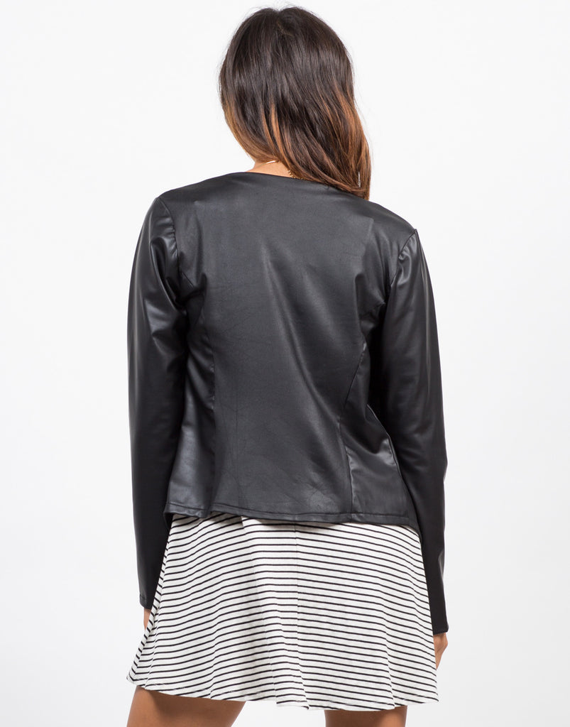 Drapey Lightweight Leatherette Jacket - 2020AVE
