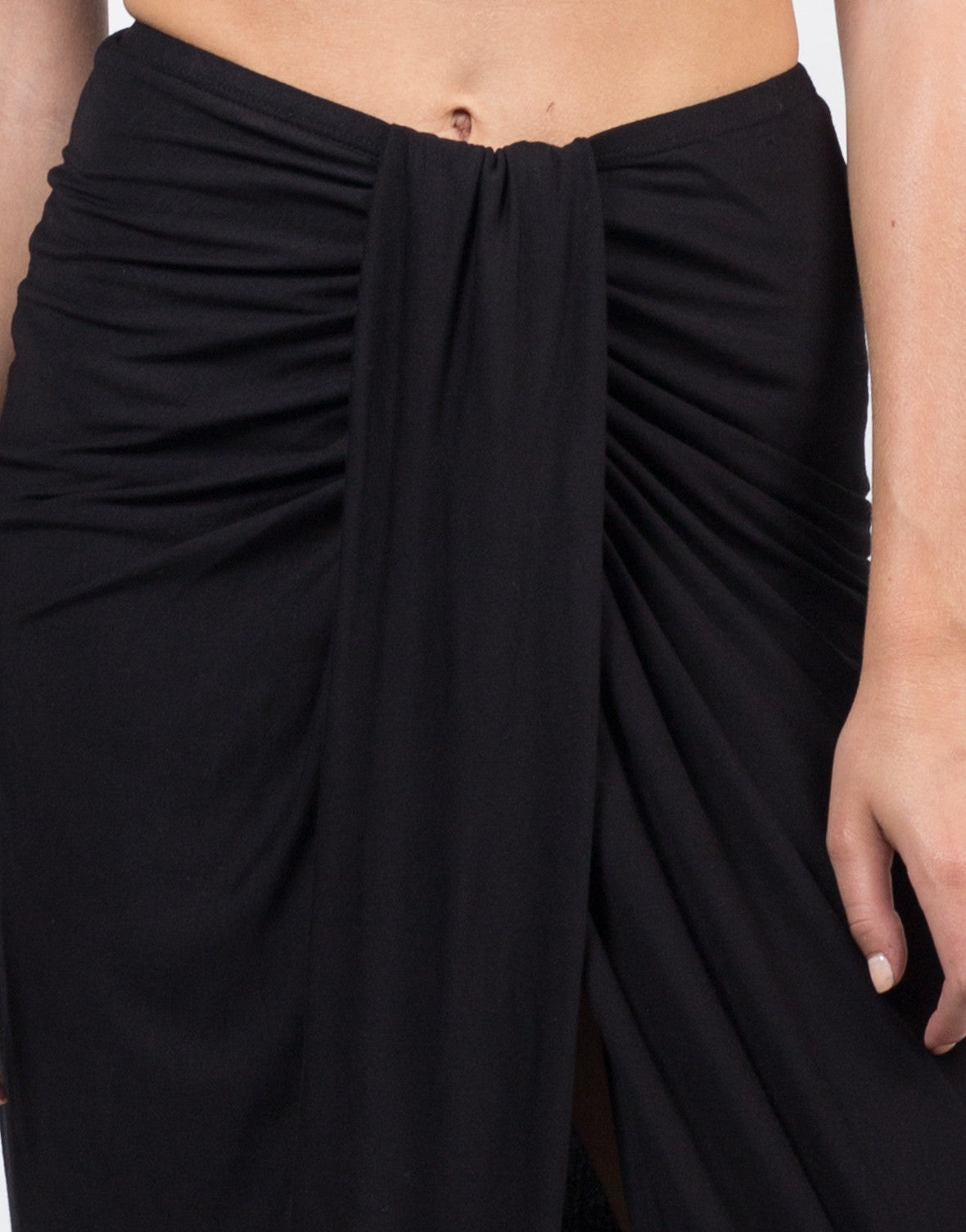 Detail of Drapey Maxi Skirt