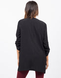 Back View of Drapey Oversize Jacket