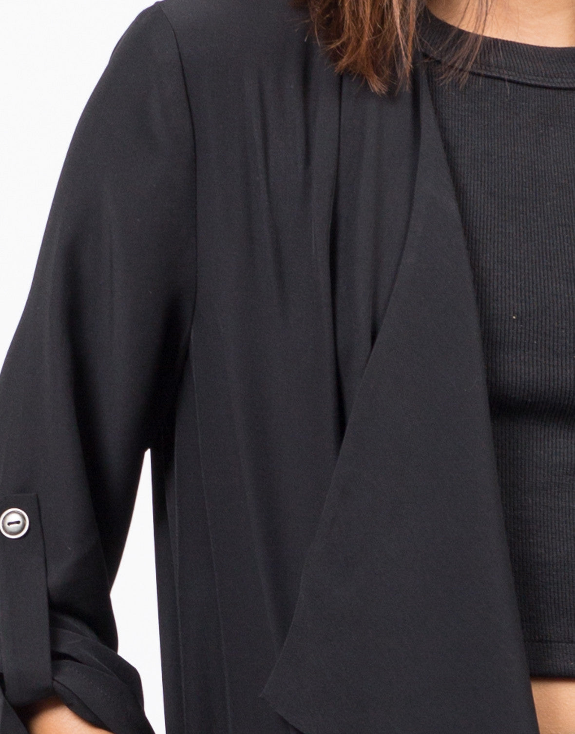 Detail of Drapey Oversize Jacket