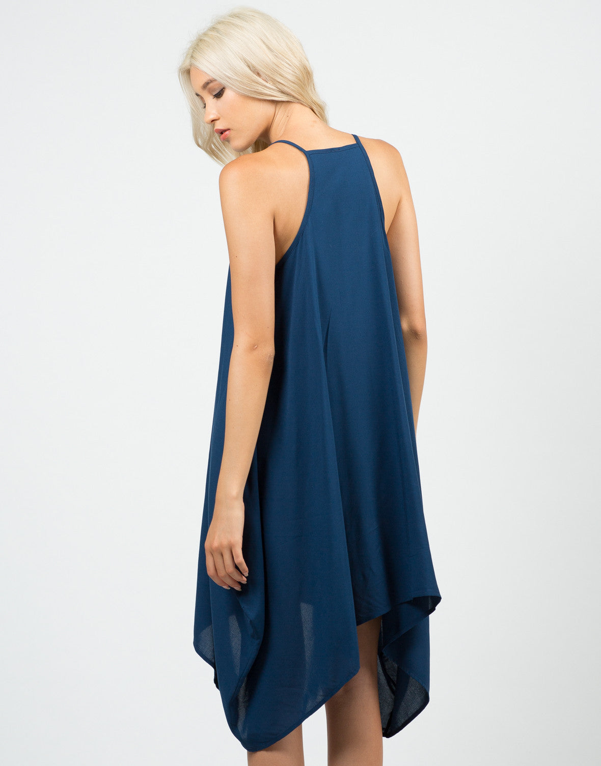 Back View of Drapey Sides Dress
